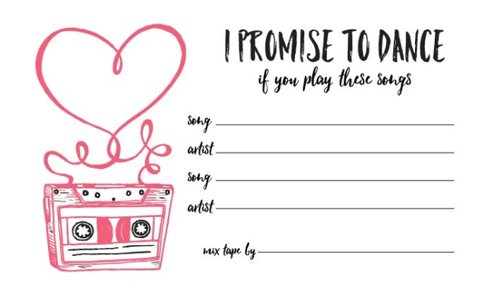 Print: Free Printable Mix Tape Song Request Form