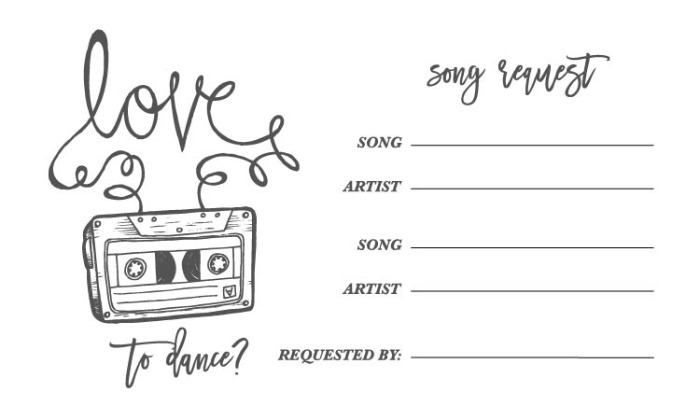 Print: Free Printable Love Mix Tape Song Request Form