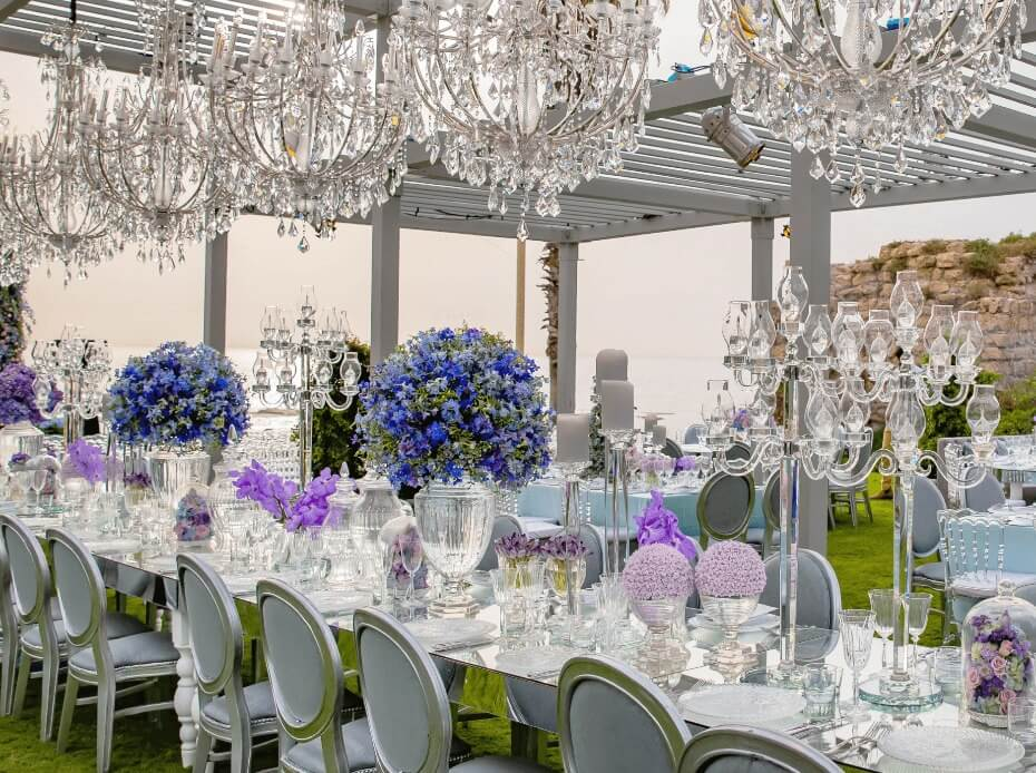 Tel Aviv Outdoor Wedding Reception Planned by BE Group TLV