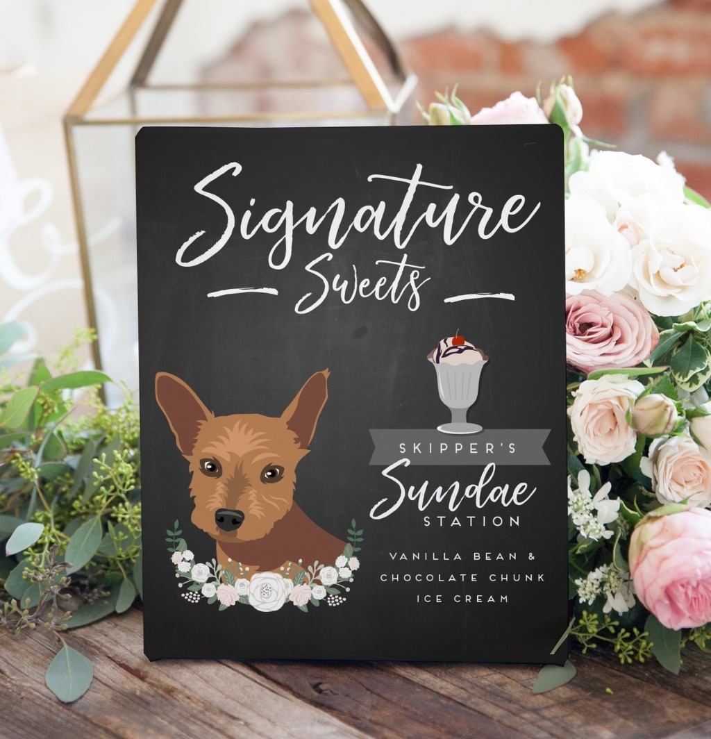 Sweets are always the best part of dinner, so why not get a Signature Sweets sign for your big day?? This Wedding Chalkboard Dessert