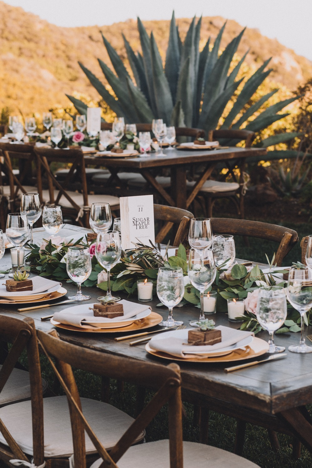 romantic and organic inspired outdoor table decor