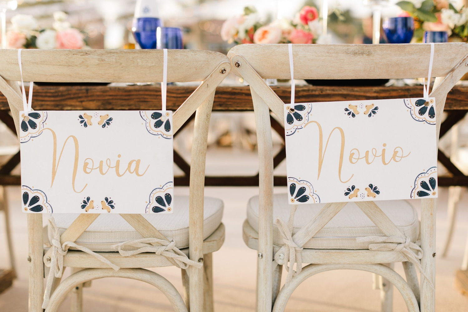 wedding seat signs