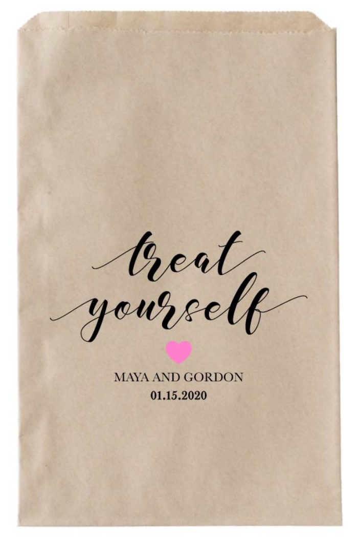 Print: Printable Treat Yourself Wedding Favor Bags