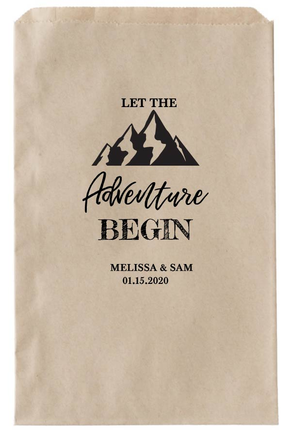 Print: Printable Adventure Begin Favor Bags