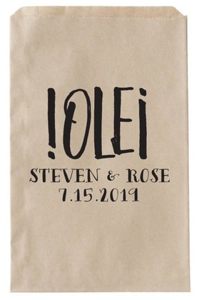 OLE Printalbe Wedding Favor Bag