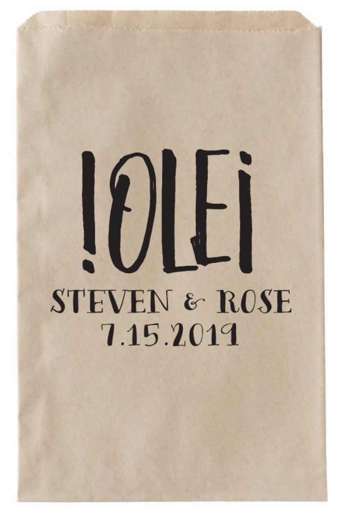 Print: OLE Printalbe Wedding Favor Bag