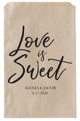 Love is Sweet Wedding Paper Bags