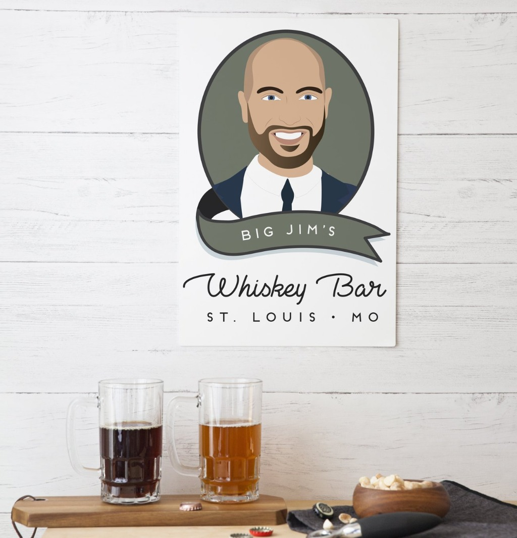 Groomsmen gifts are super important, so get something that will WOW your groomsmen!! This awesome Custom Portrait Aluminum Sign for