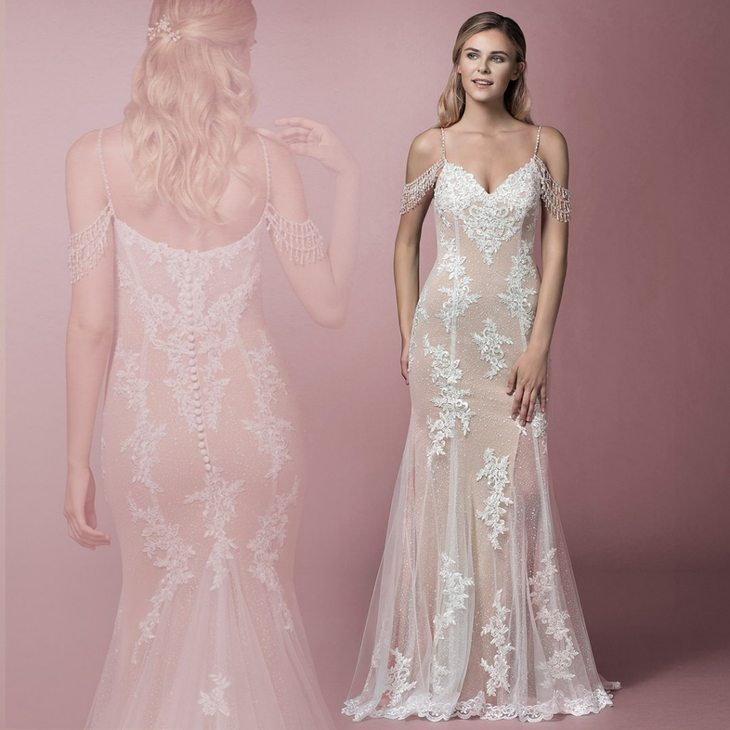 Turn heads in Azazie's Saskia Bridal Gown in All Sizes!
