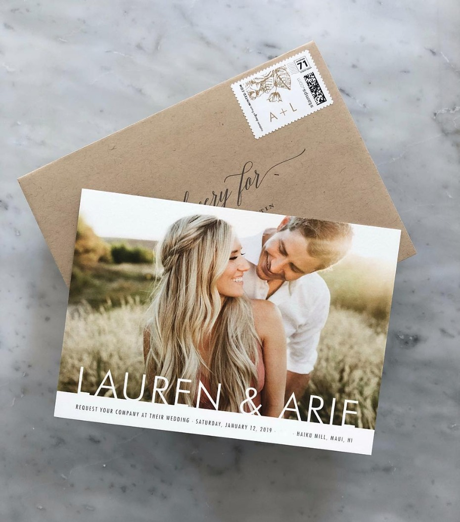 Lauren and Arie Save the Date for January Hawaii Wedding