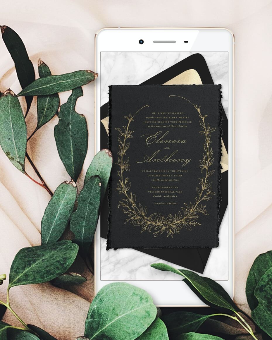 Greenvelope Online Wedding Invitation