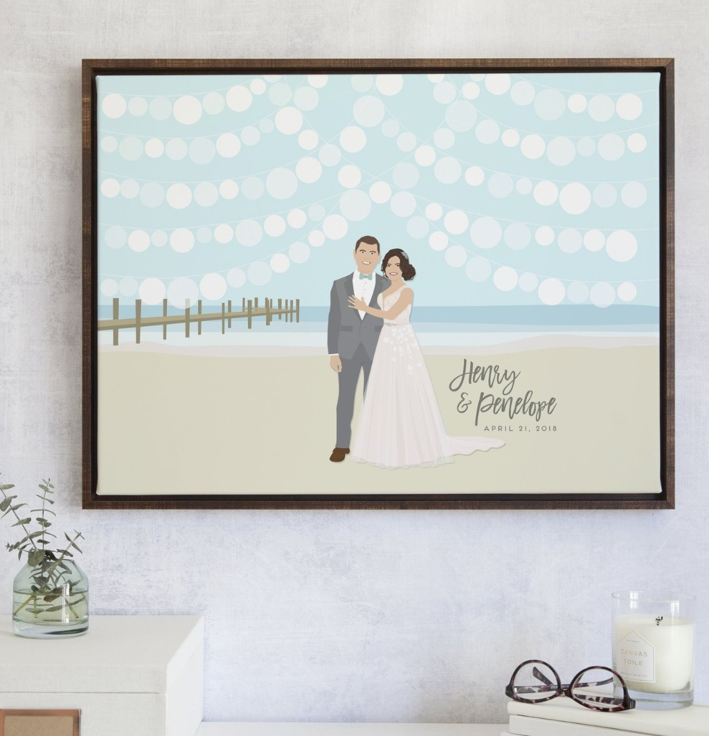 The end of summer doesn't mean the end of beach weddings!! This awesome Beach Wedding Guest Book Alternative with Lanterns is perfect