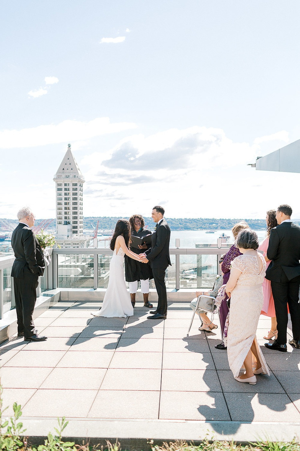 intimate rooftop ceremony