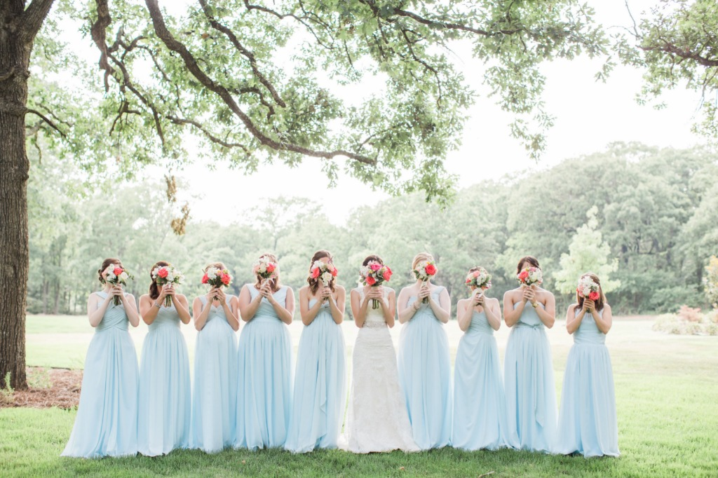 Sky Blue Wedding Party 😍 💕 | Photo by Ashley Noelle Photography
