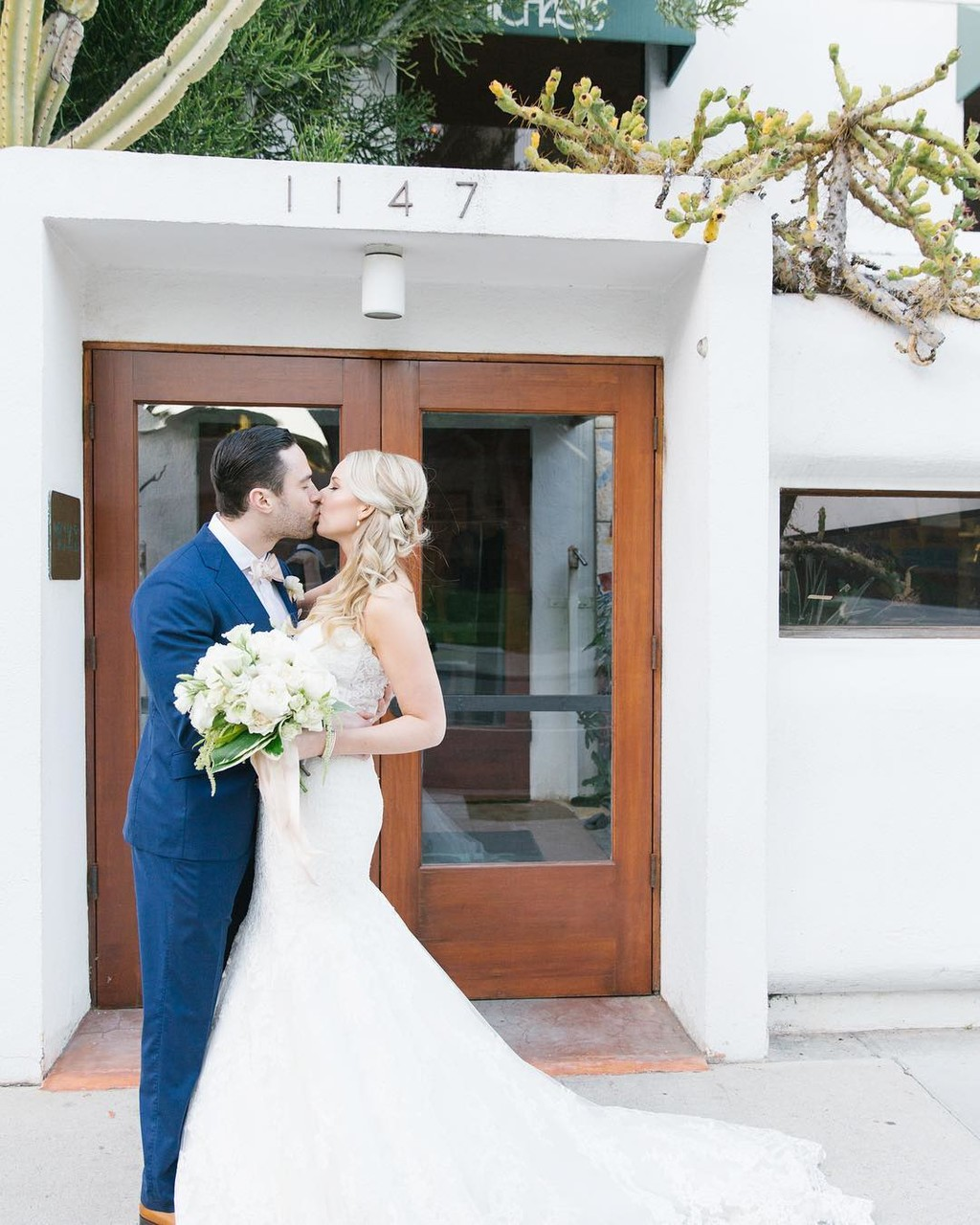 Super excited to see Jamie and Jordan's Santa Monica wedding featured on