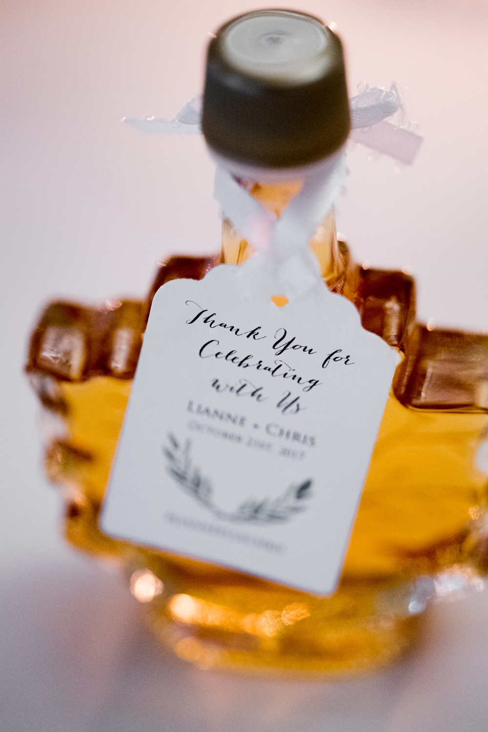 maple syrup wedding favor