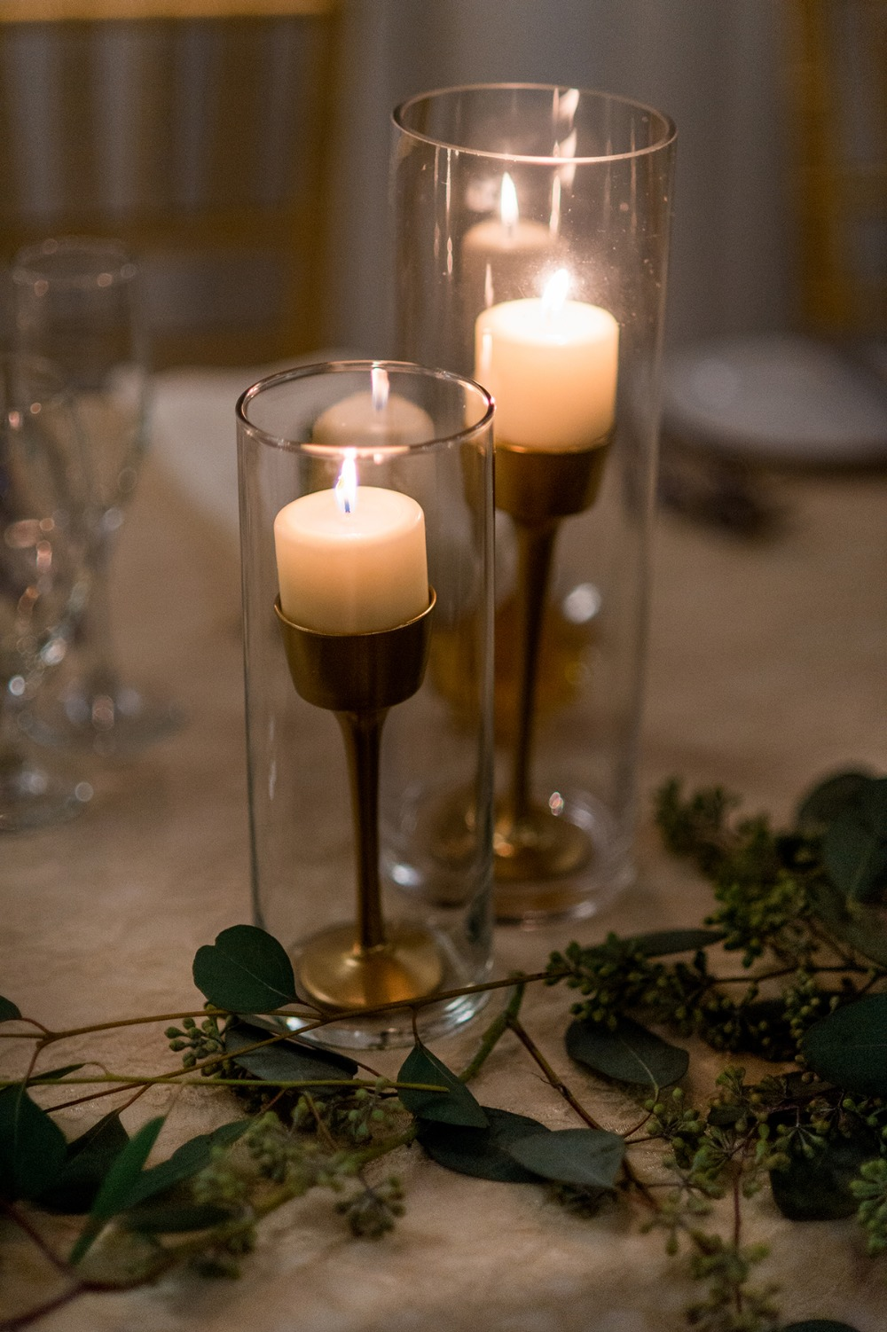 candle lit reception