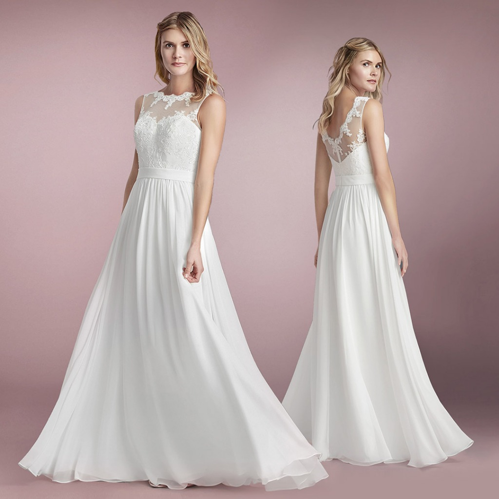 Turn heads in Azazie's Macaria Bridal Gown in All Sizes!
