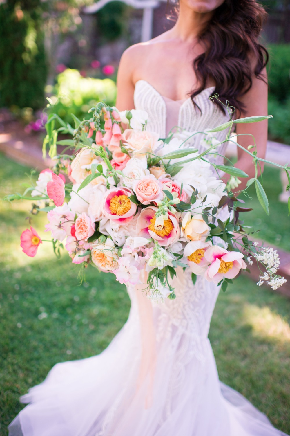 romantic and over sized wedding bouquet