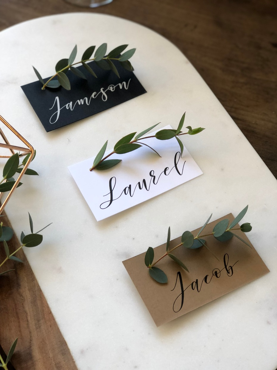 The Favor Loft Personalized Escort Cards