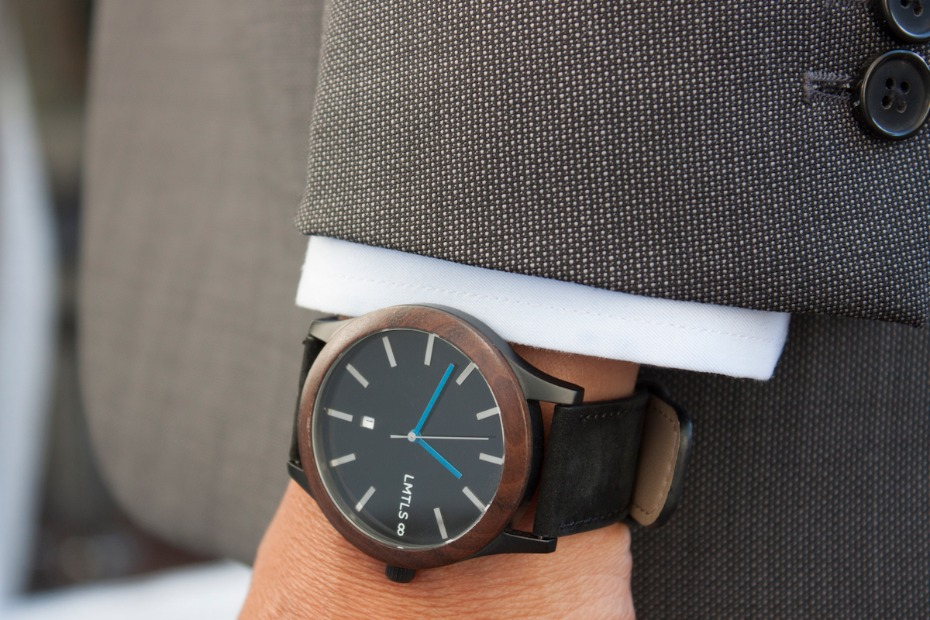 LMTLS Watch on Man Wearing Suit