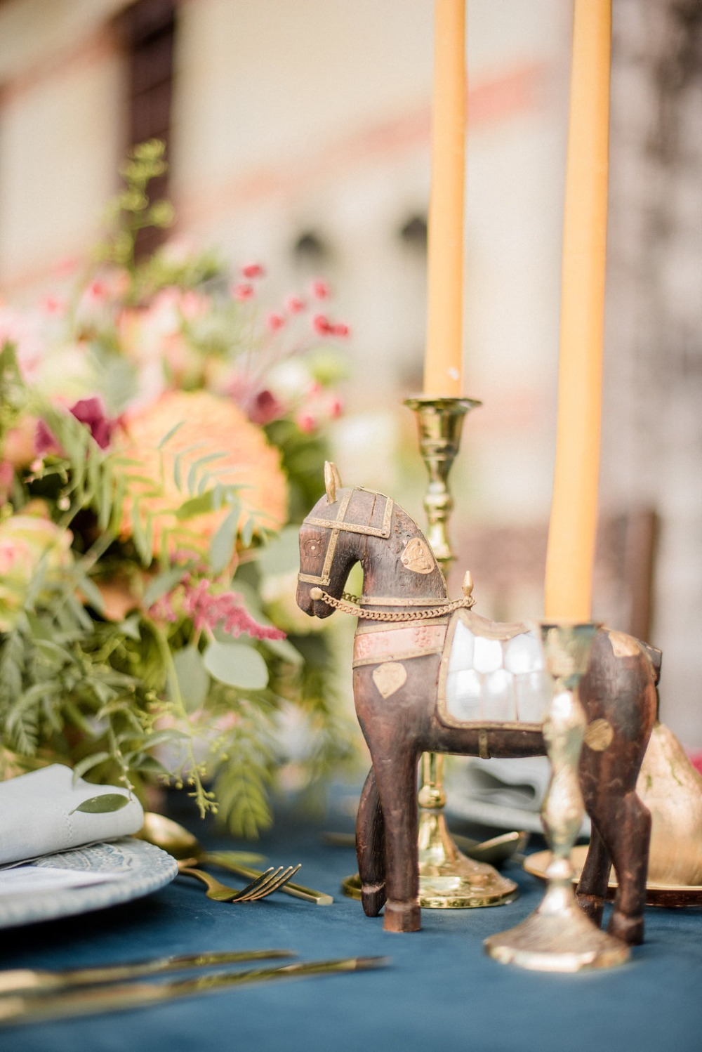 regal Byzantine style table decor
