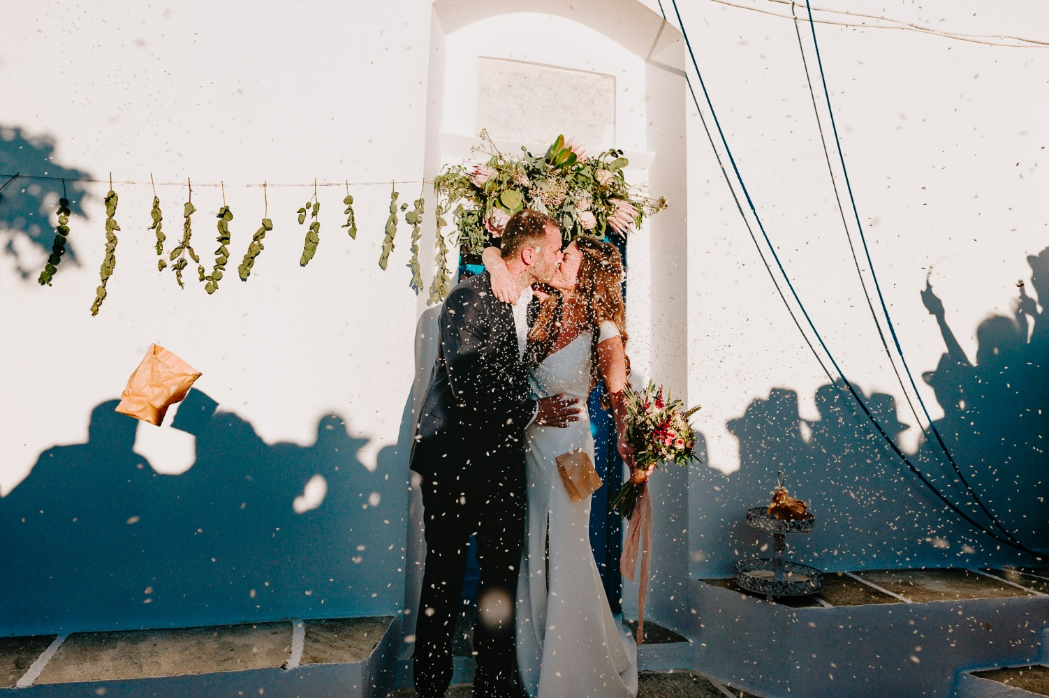 Just married in Cyclades