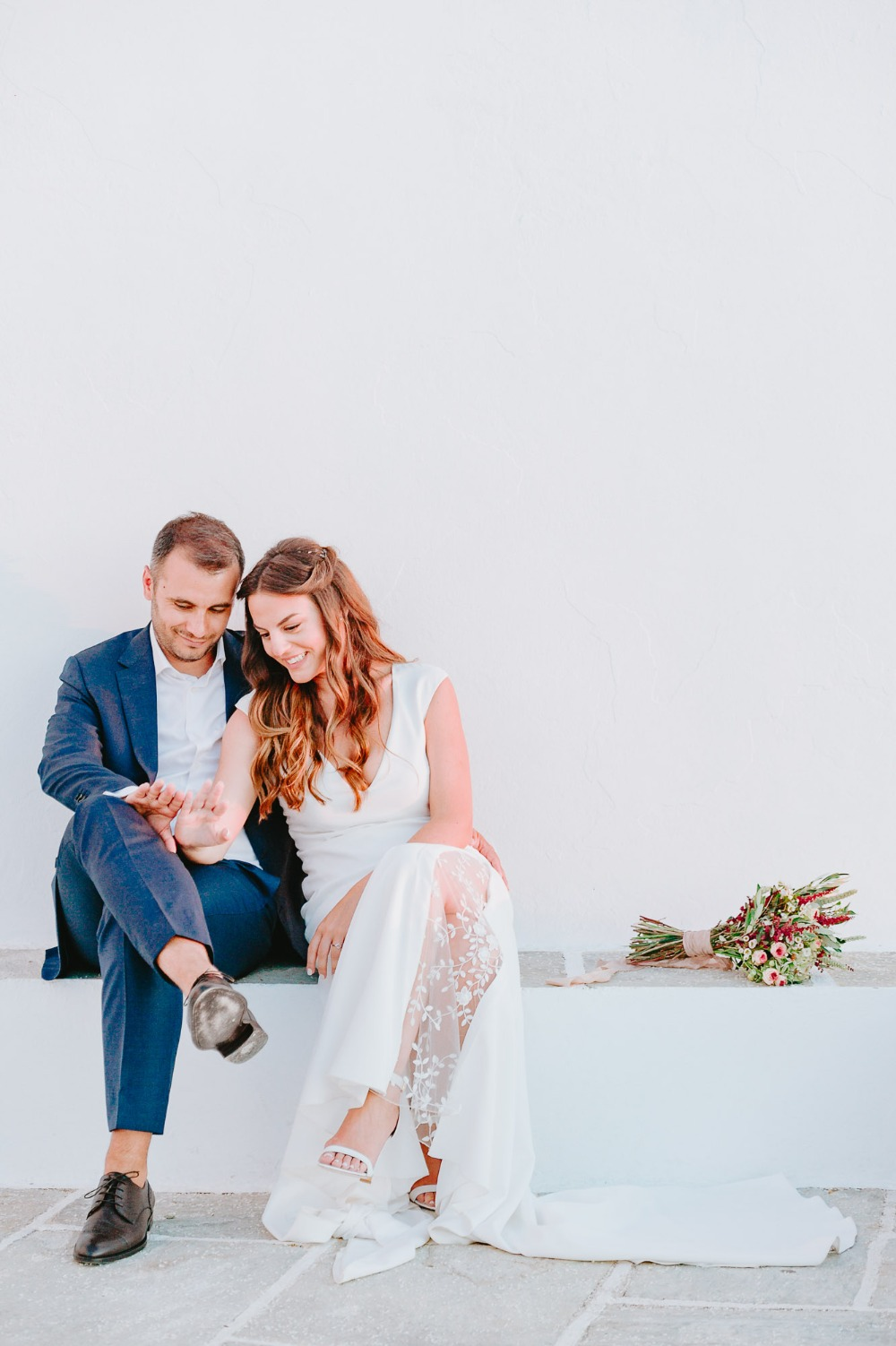 Gorgeous white washed wedding in Cyclades