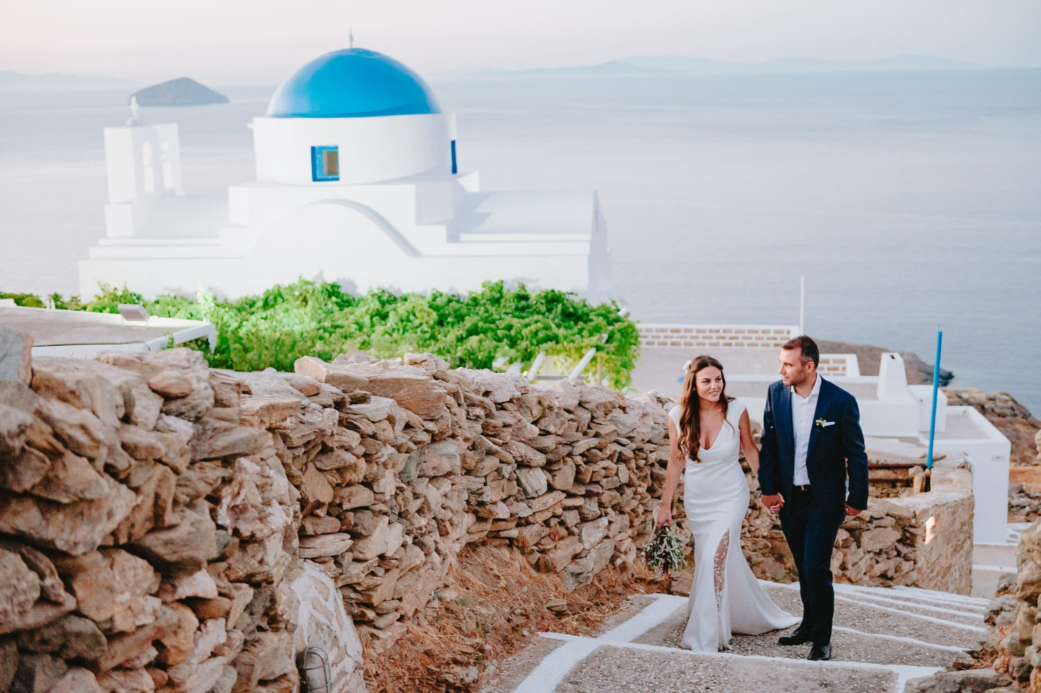 Beautiful wedding in Cyclades