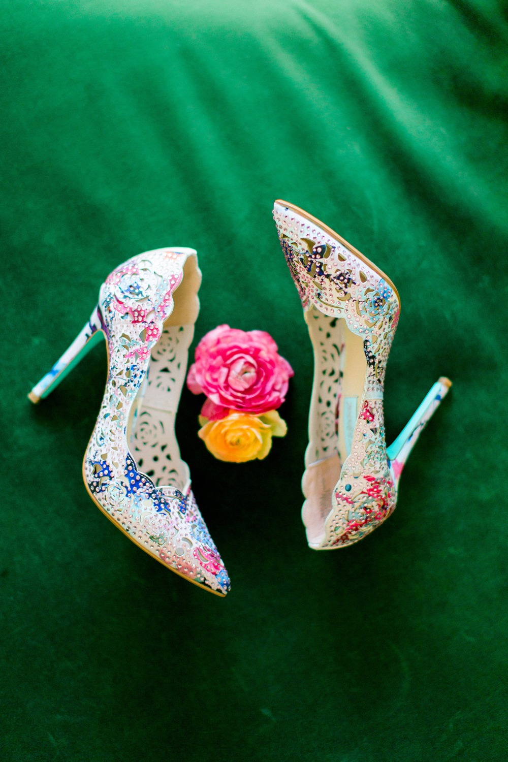 Colorful wedding heels