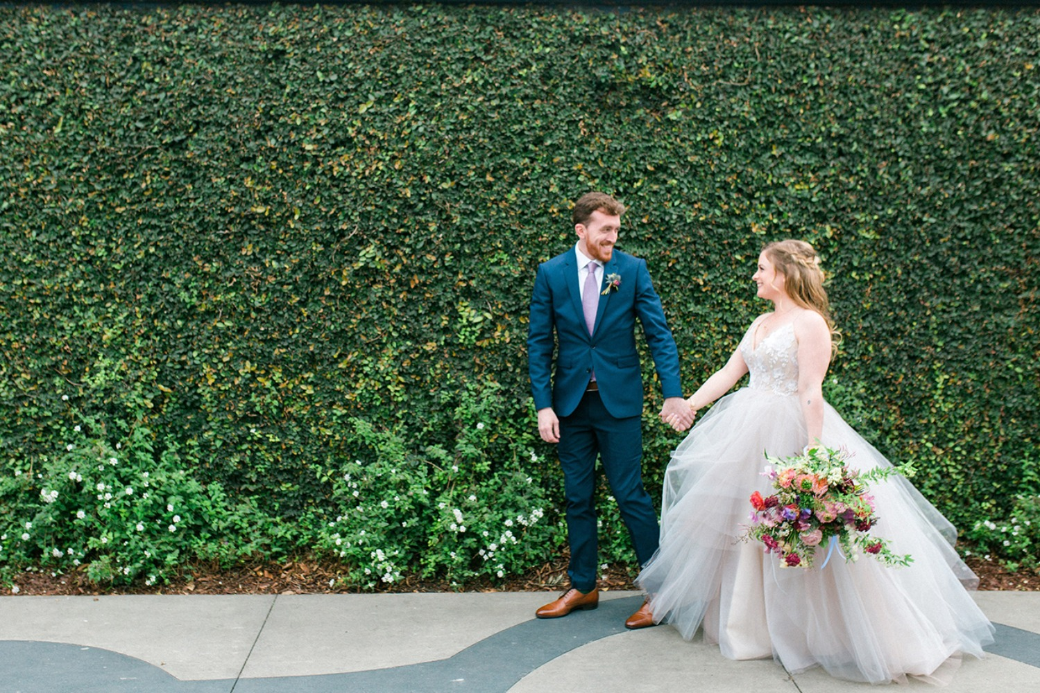 Colorful and unique modern wedding at the Fig house