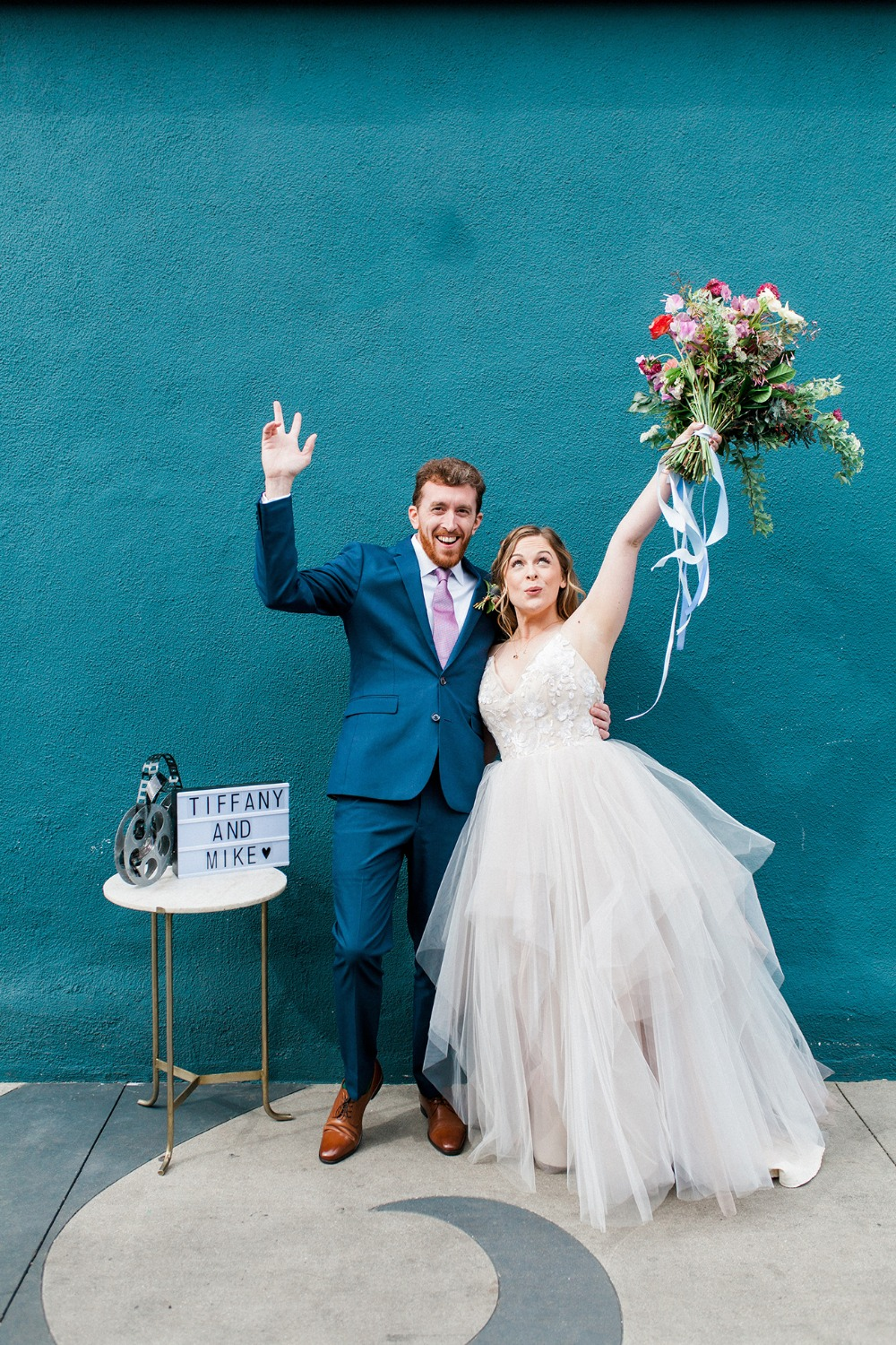 Fun and colorful modern wedding