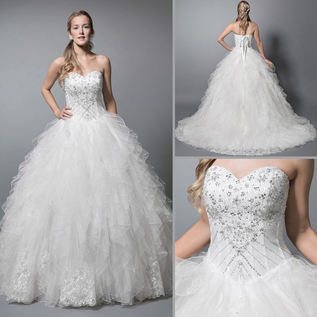 Ball Gown wedding dresses - Azazie Allegra😍 💕
