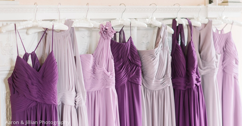Purple mix and match bridesmaid dresses😍 💕 Do you like this color palette?