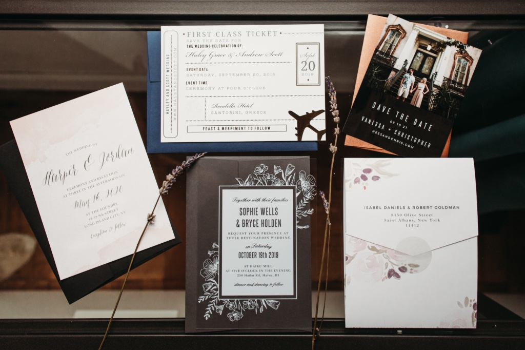 Over 900 wedding invitation designs means endless styles and endless options! Here a just a few of our favorite looks.