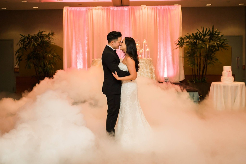 Adding a fog machine to your first dance makes it even more epic!