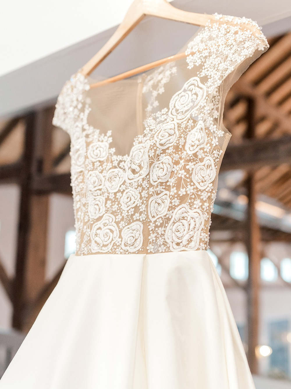 details Hayley Paige wedding gown