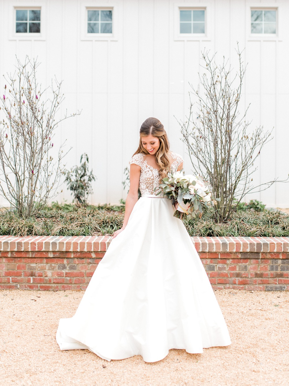 sweet bridal look in a Hayley Paige wedding gown