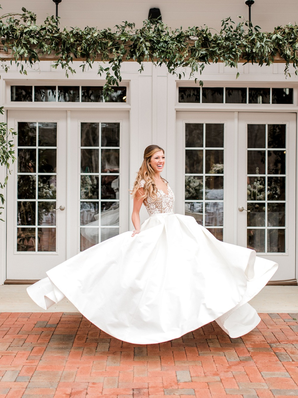 wedding dress twirl