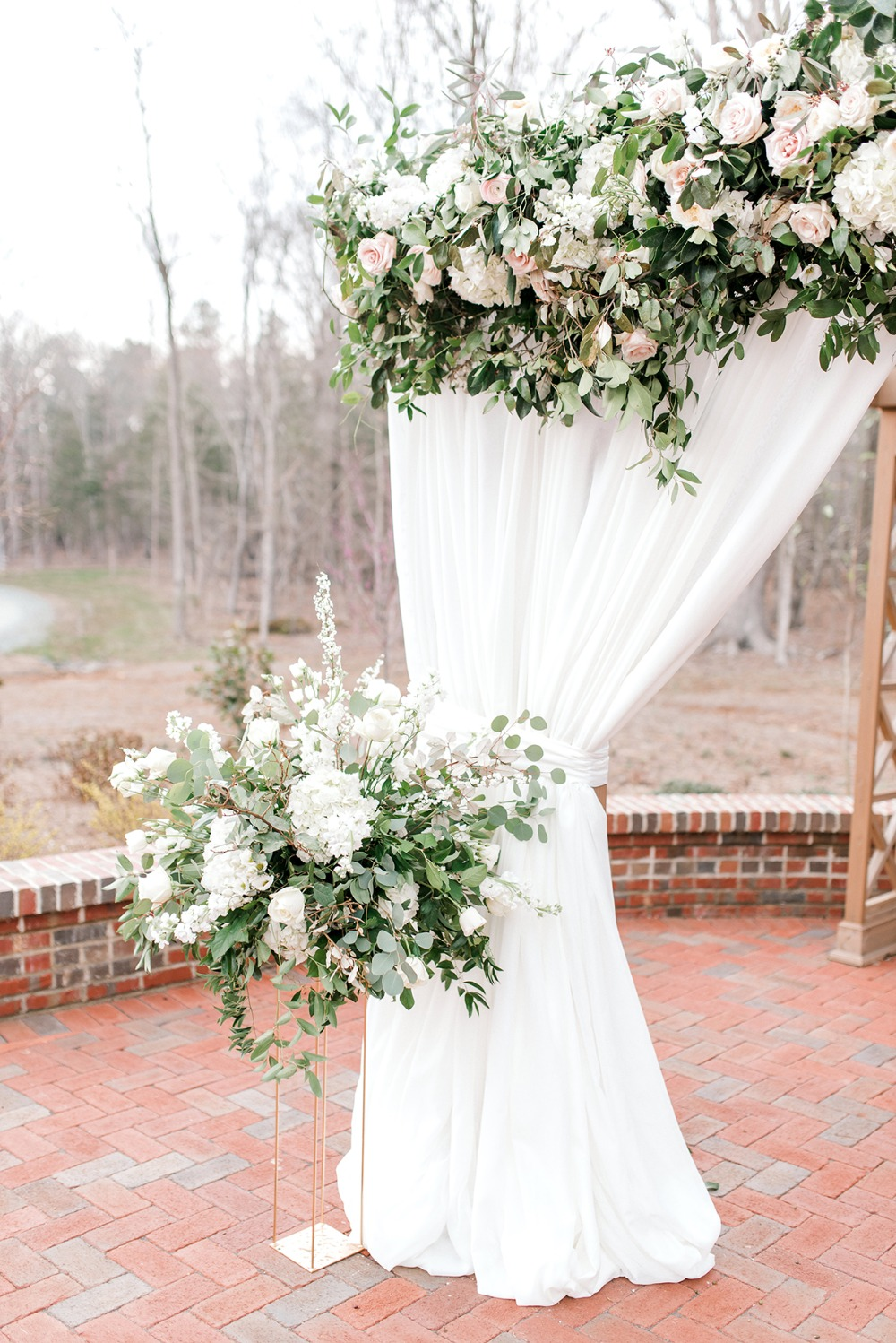 cascading floral decor