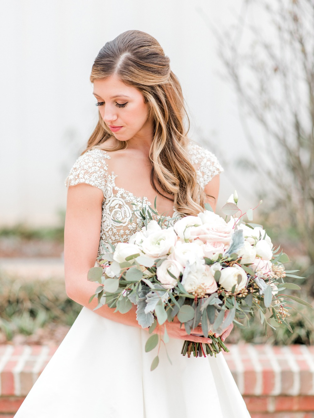 sweet and elegant bridal style