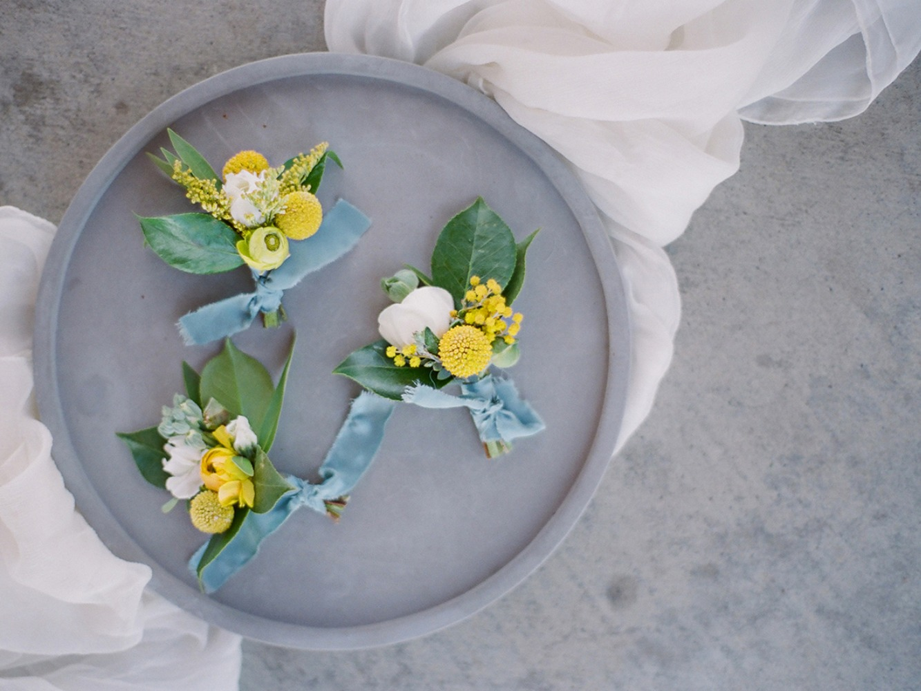 yellow and white boutonniere