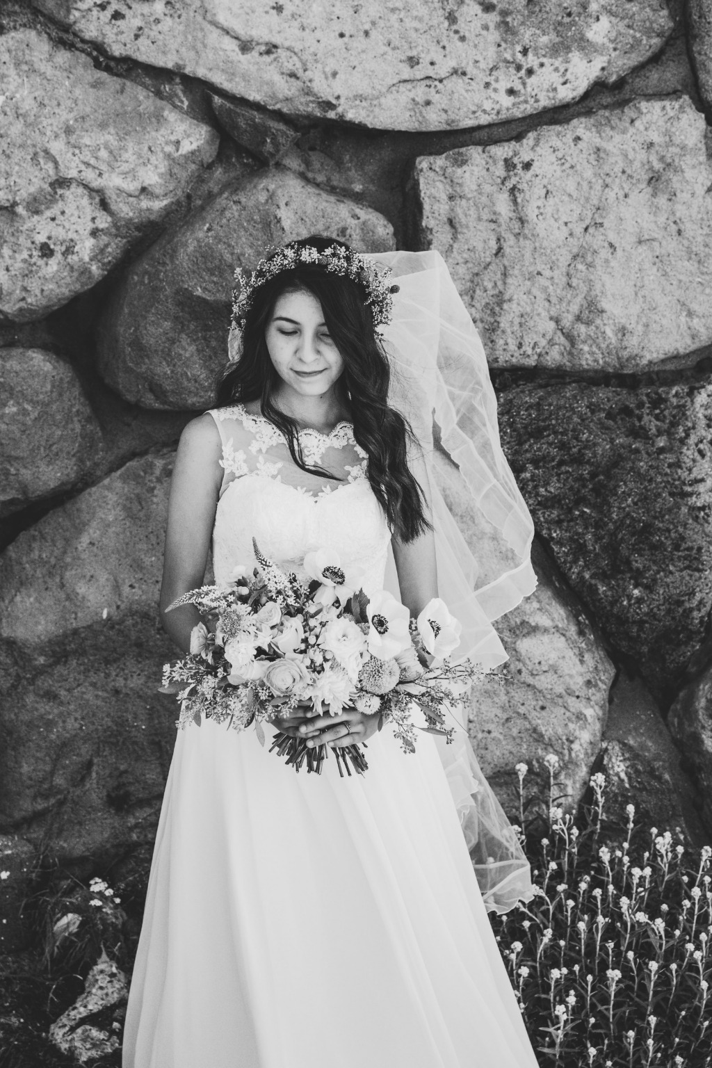 Float down the aisle in our beautiful Macaria wedding dress. ✨😍 | Photo by Jen S. Media