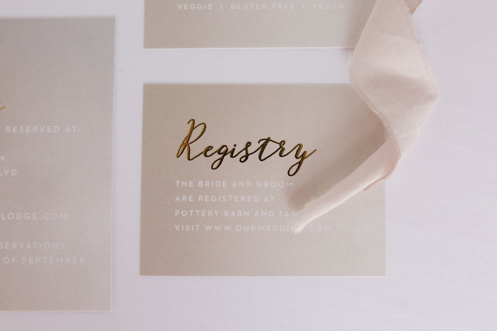 A trick to making your wedding invitations pop - foil! This raised gold foil created the most elegant detail that your guests will