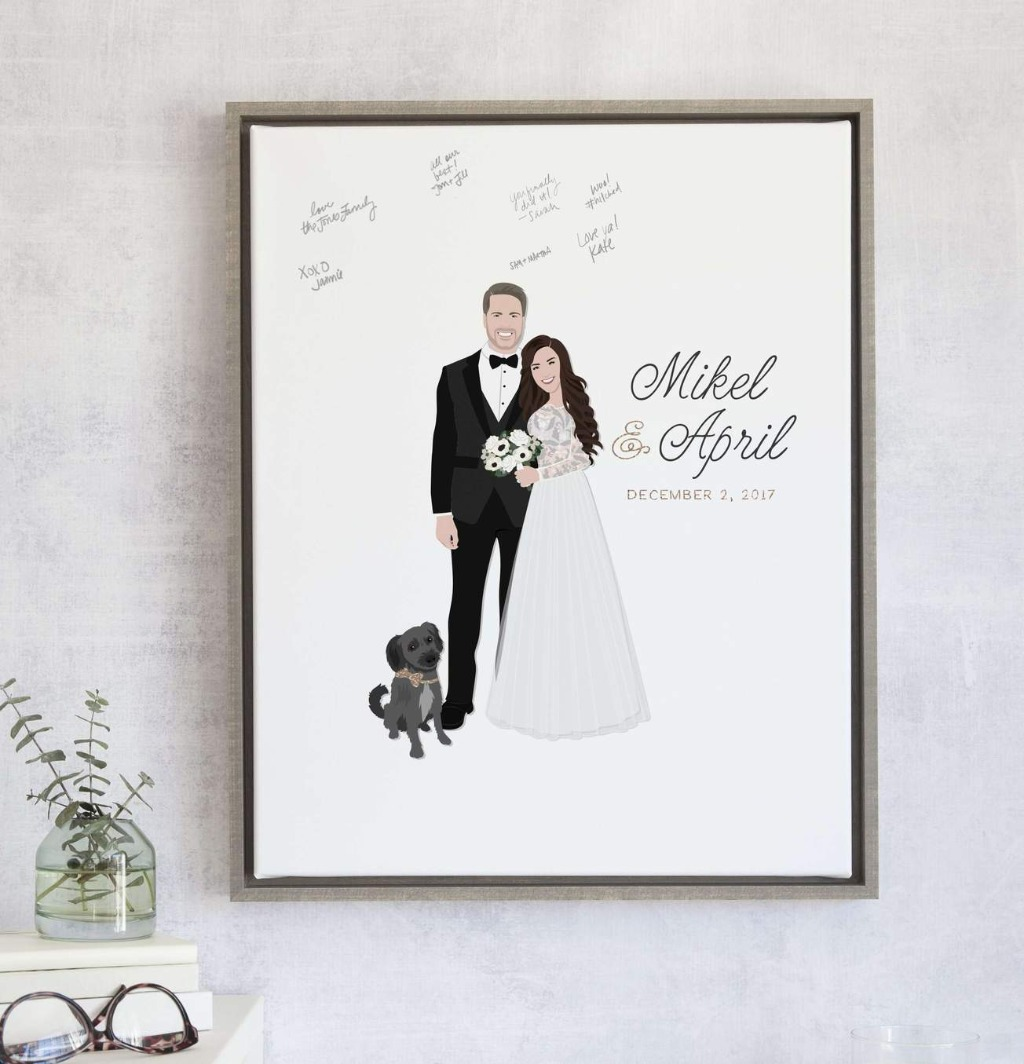 If you love our guest books, you'll love our bestseller, The Penny!! This design features your couple portrait, name, and date!! Include
