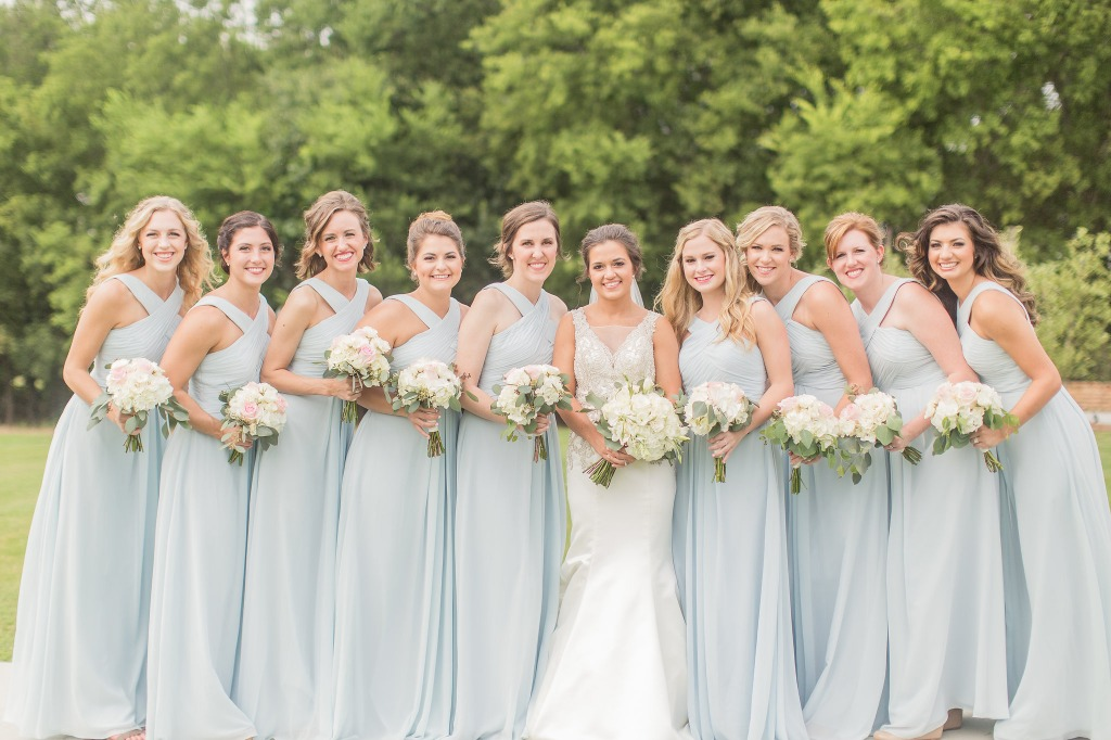Blue Wedding Color ✨😍 Find your perfect bridesmaid dresses at Azazie | Photo by Katelyn Anne Photography