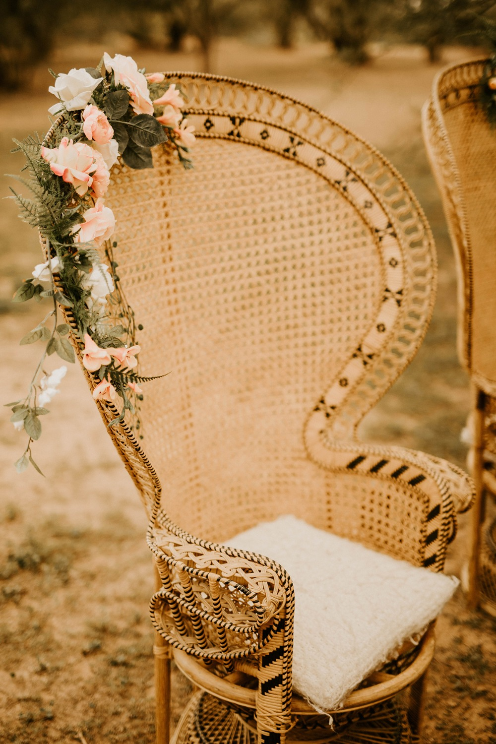 peacock wicker throne chairs
