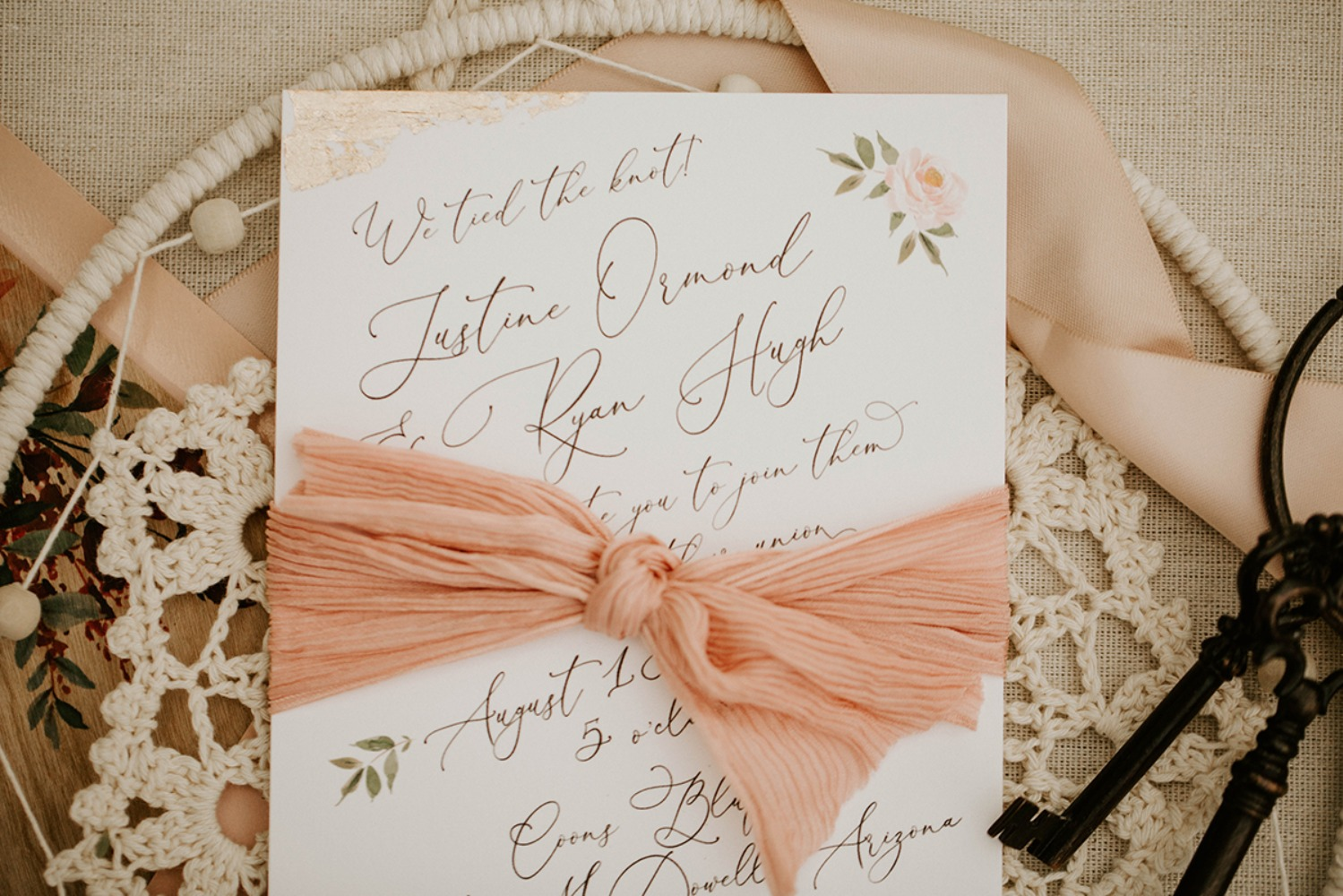 calligraphy wedding announcement