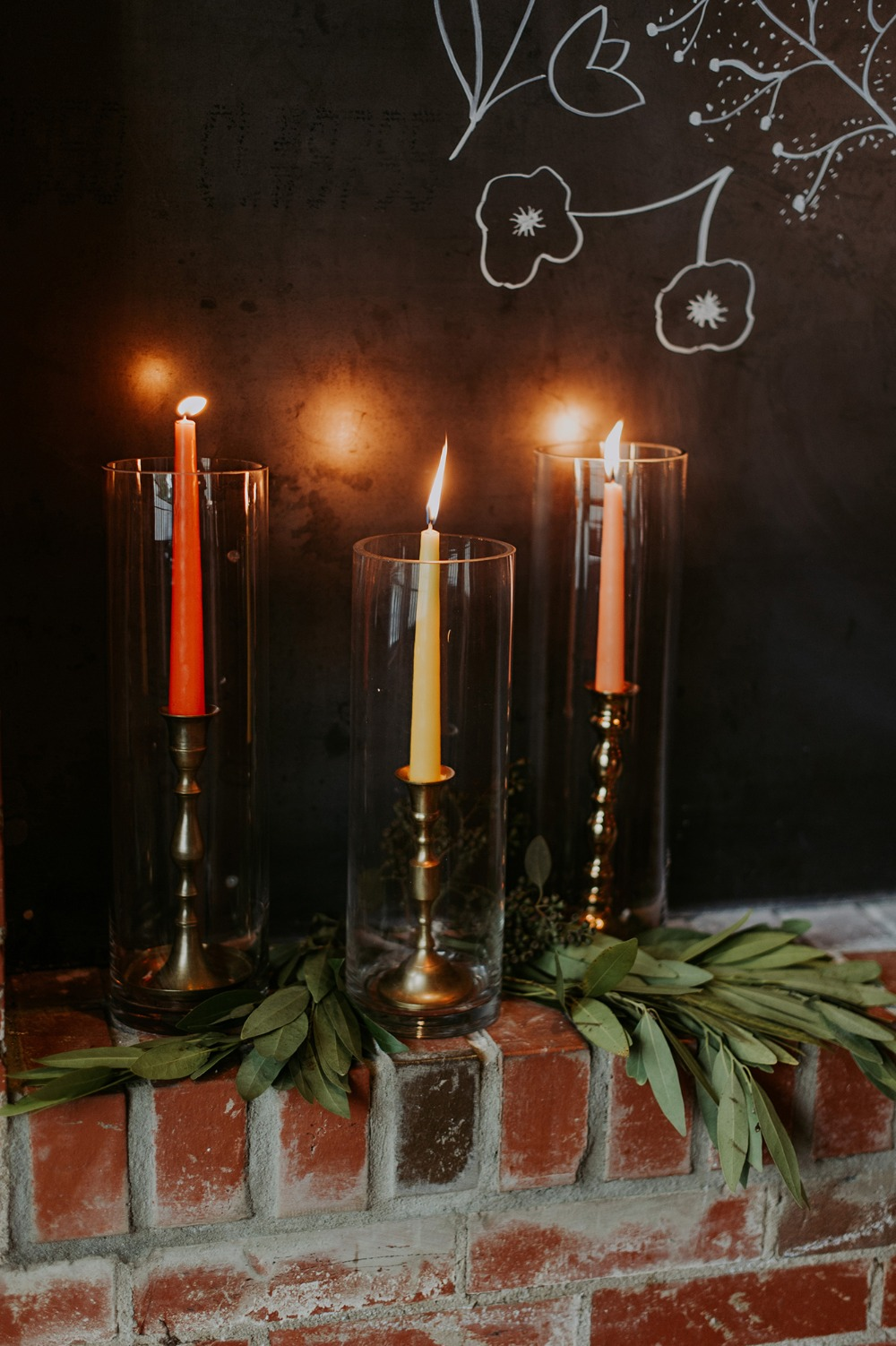 peach yellow and orange candles
