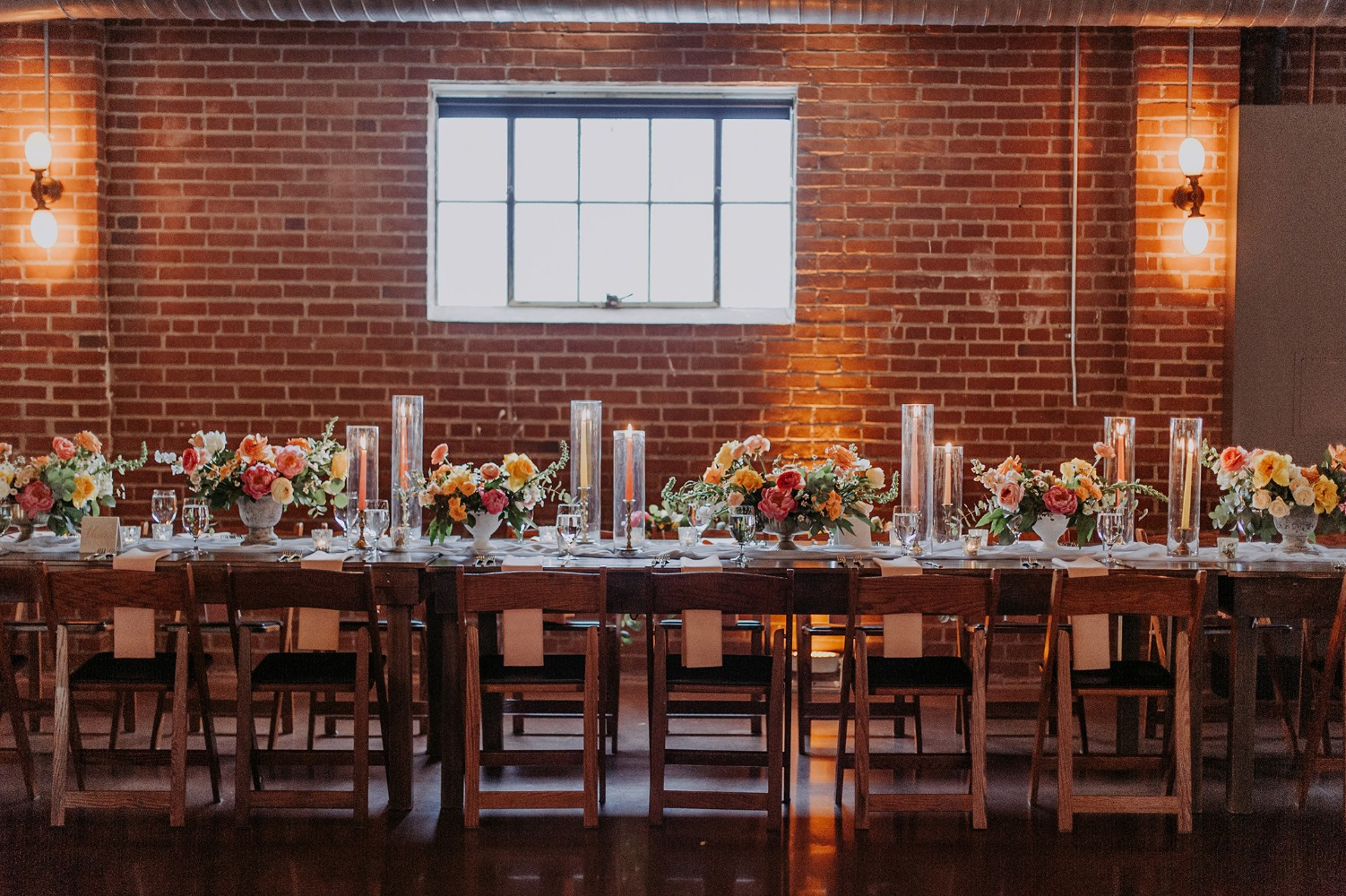romantic brick wedding venue